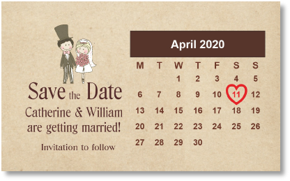 order w2 calendar cute couple brown